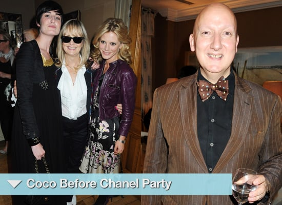 Photos of Erin O'Connor, Twiggy and Stephen Jones at Coco Chanel Party, London