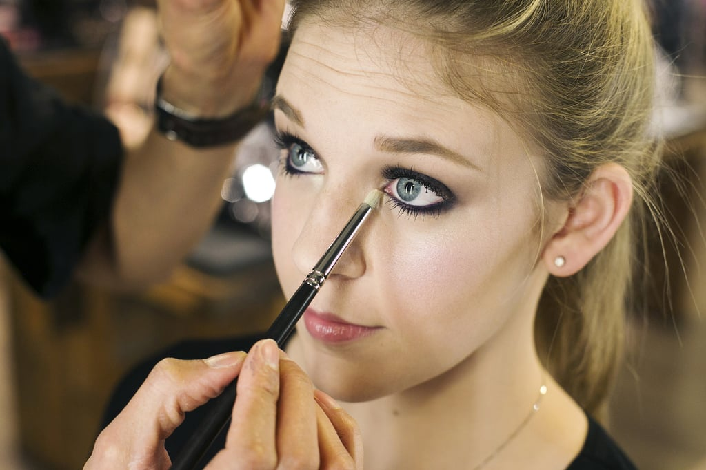 """""""You need to use something to attract the light to the eye,"""" Jennings says. """"So use a shimmery color, like the Eye Shadow in Nylon ($16) in the inner corner of the eye to create a sunburst-like effect. And it makes the smoky eye more flattering."""""""