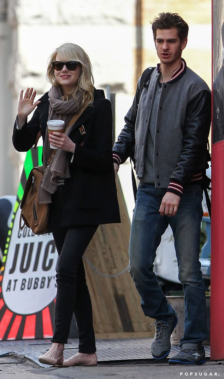 Emma Stone and Andrew Garfield Grab a Bite in the Big Apple
