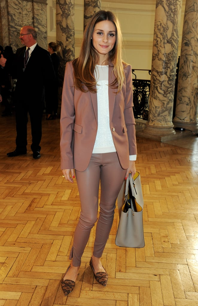 Olivia Palermo turned up for the Anya Hindmarch show.