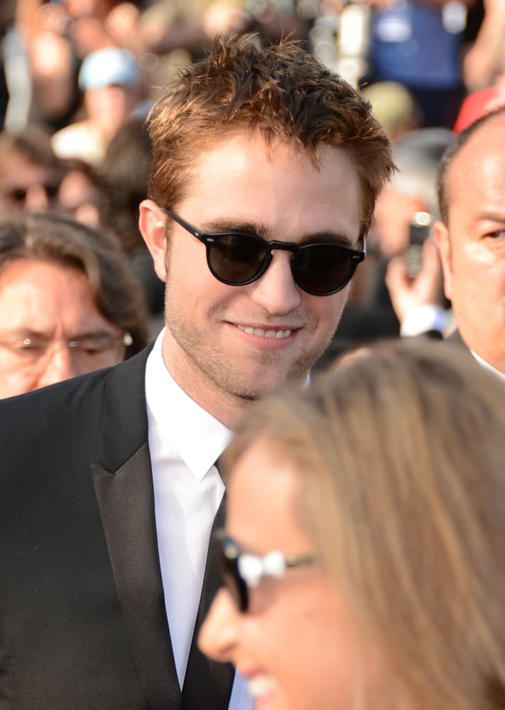 Robert Pattinson wore sunglasses on the red carpet of the On the Road premiere at the Cannes Film Festival.