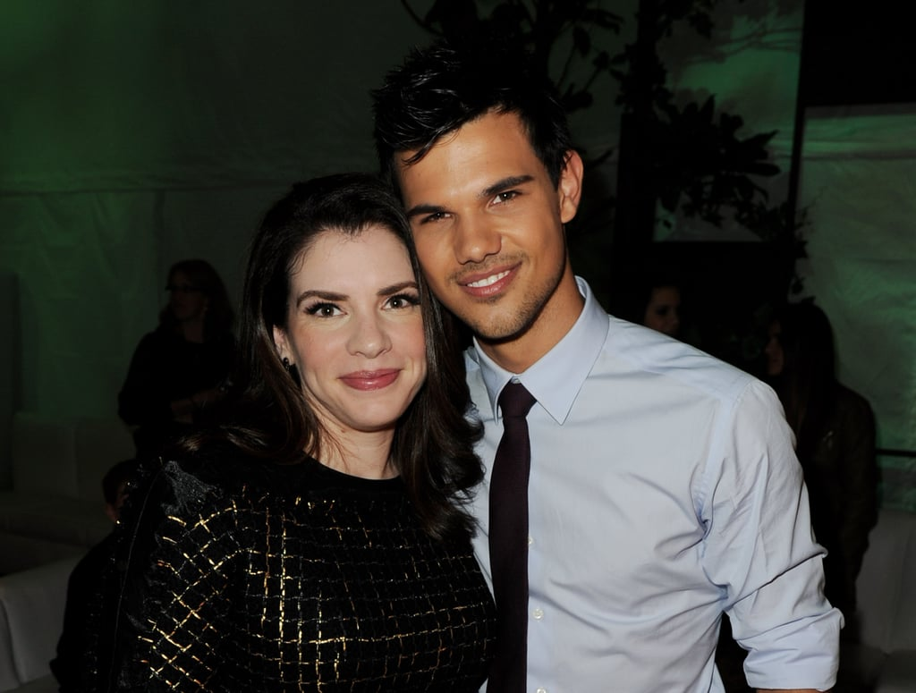 Stephanie Meyer and Taylor Lautner attended the Breaking Dawn premiere party.