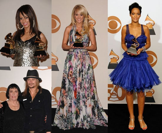 Winners Cozy Up With New Grammys in the Press Room