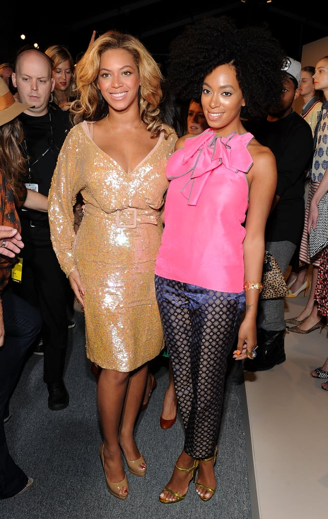Beyoncé Knowles and Solange Knowles struck a pose.