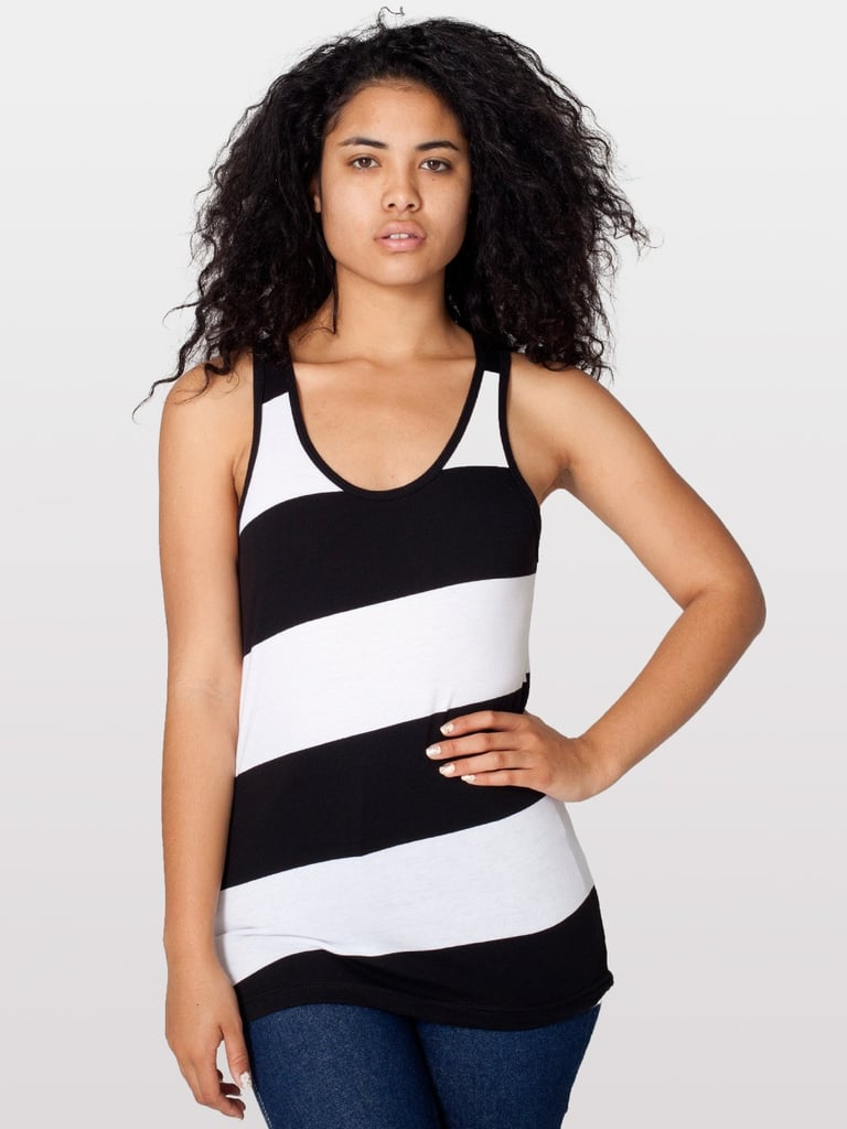 This American Apparel striped jersey tank ($28) is sure to become a closet staple. You can wear it with everything from jeans to leather to skirts.