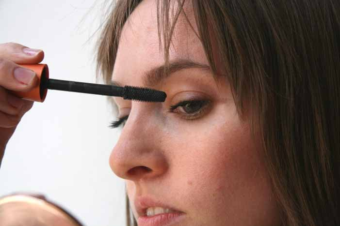 Step four: Apply mascara to top lashes