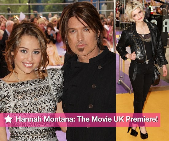 Photos Of Miley Cyrus, Billy Ray Cyrus, Demi Lovato, Mitch Hewer, Pixie Geldof At UK Premiere Of Hannah Montana: The Movie