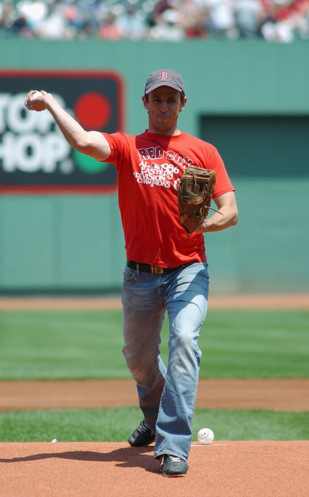 In June 2004, Seth Meyers was able to throw out a first pitch for the Boston Red Sox.