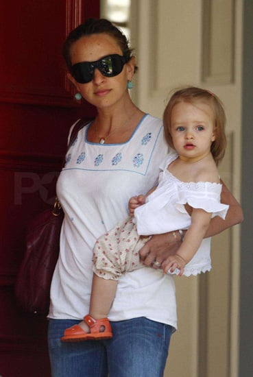 Jewelry designer Jennifer Meyer and daughter Ruby stepped out for an afternoon fiesta.