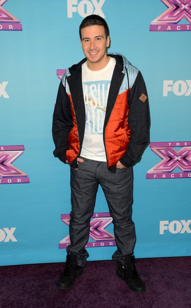 Vinny Guadagnino from Jersey Shore was a special guest at the finale.