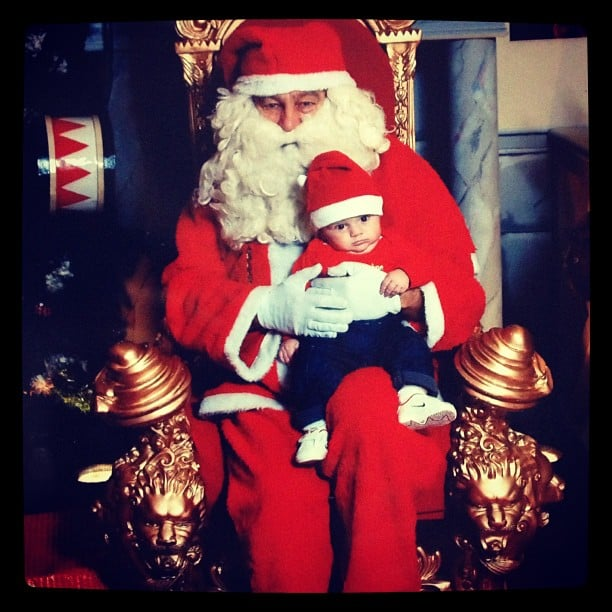 """""""Here's my baby Lucas for his first Christmas — too cute!"""" Source: Instagram user marjorielucas"""