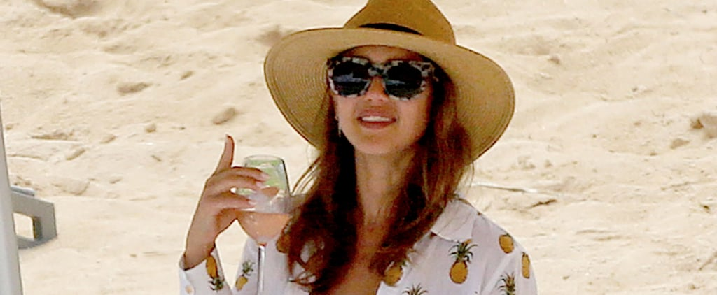 "Nothing Says ""Summer"" Like Jessica Alba's Pineapple-Print Beach Look"