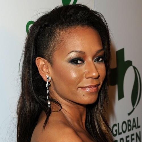 Shaved on the sides! Mel B was daring and edgy with a cool cut in 2010. We're loving what that shimmer shadow is doing for her brows, too.