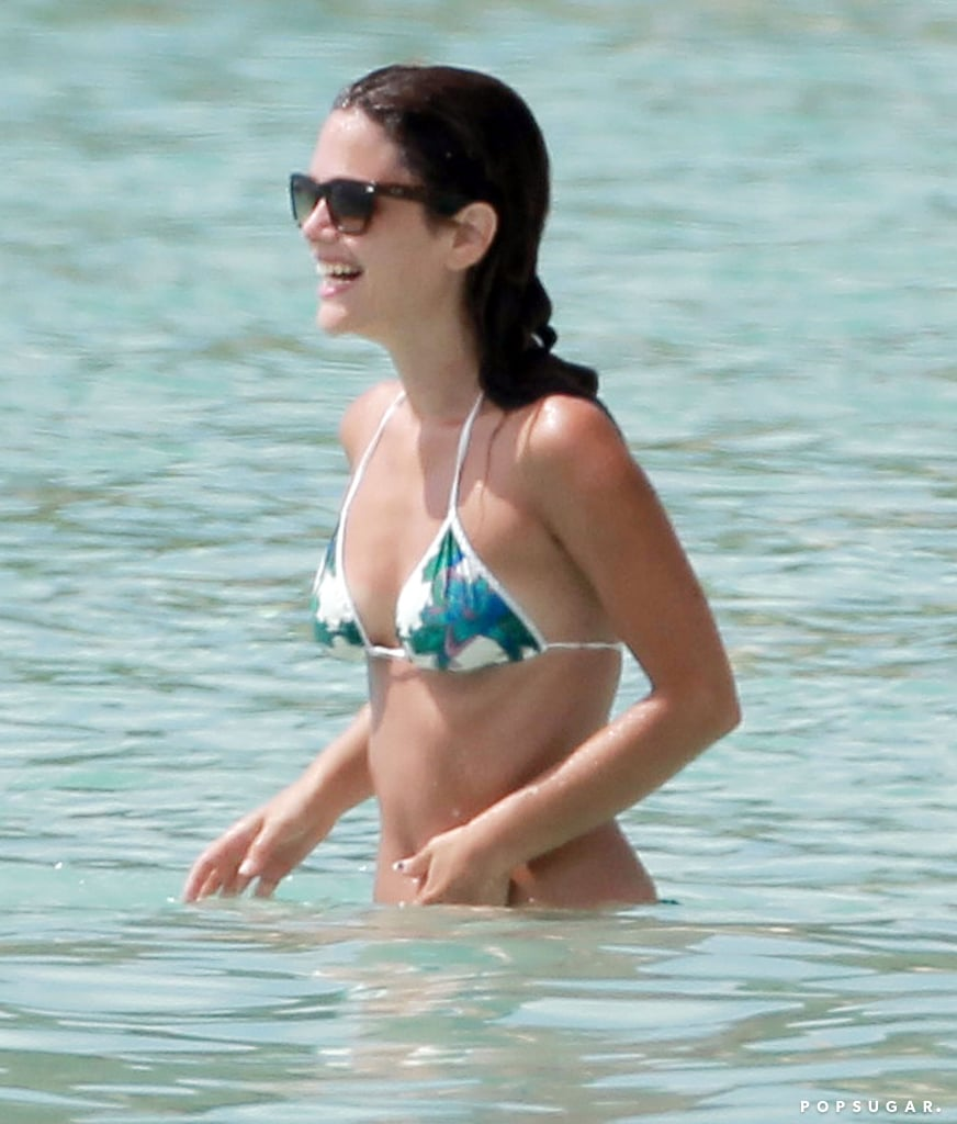 Rachel Bilson rocked a printed bikini during her April escape to Barbados.