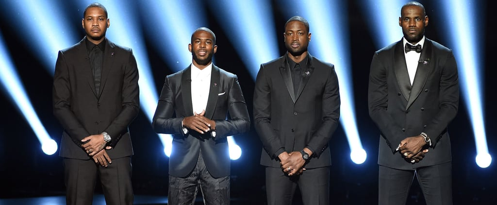 LeBron James, Carmelo Anthony, Chris Paul and Dwyane Wade Speak Out Against Gun Violence at the ESPYs