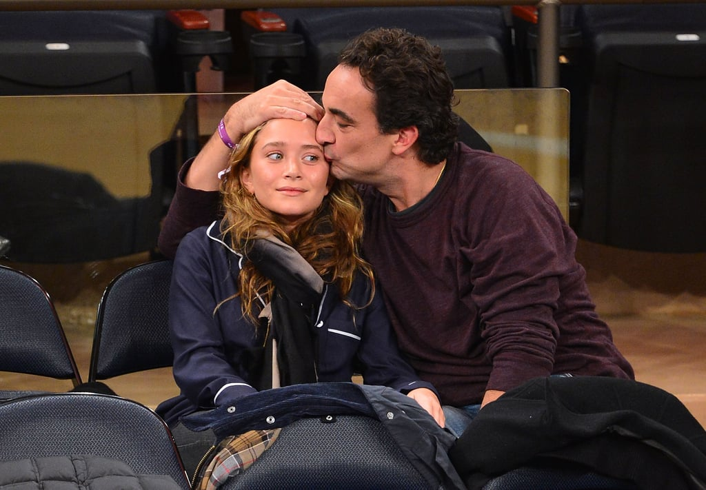 Mary-Kate Olsen received a kiss on the forehead from Olivier Sarkozy.