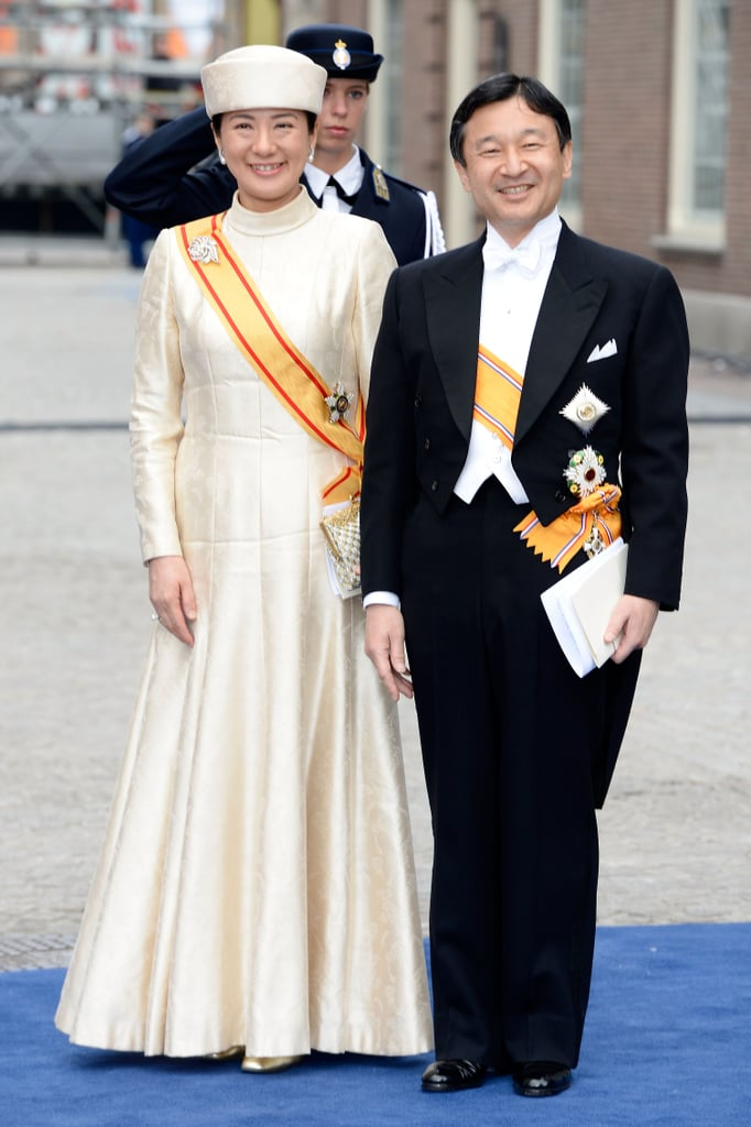 Crown Prince Naruhito and Crown Princess Masako of Japan smiled following the ceremony.