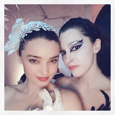 Miranda Kerr as the White Swan and a Friend as the Black Swan