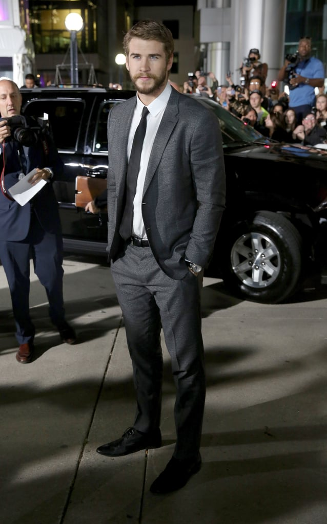 Liam Hemsworth headed to Toronto for the Rush premiere.