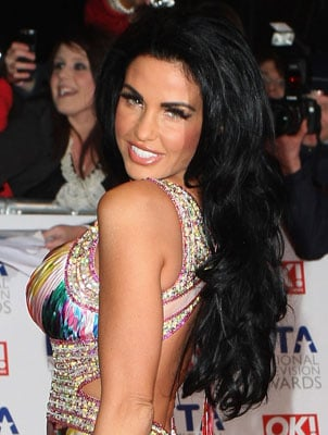 Katie Price at the 2010 National Television Awards