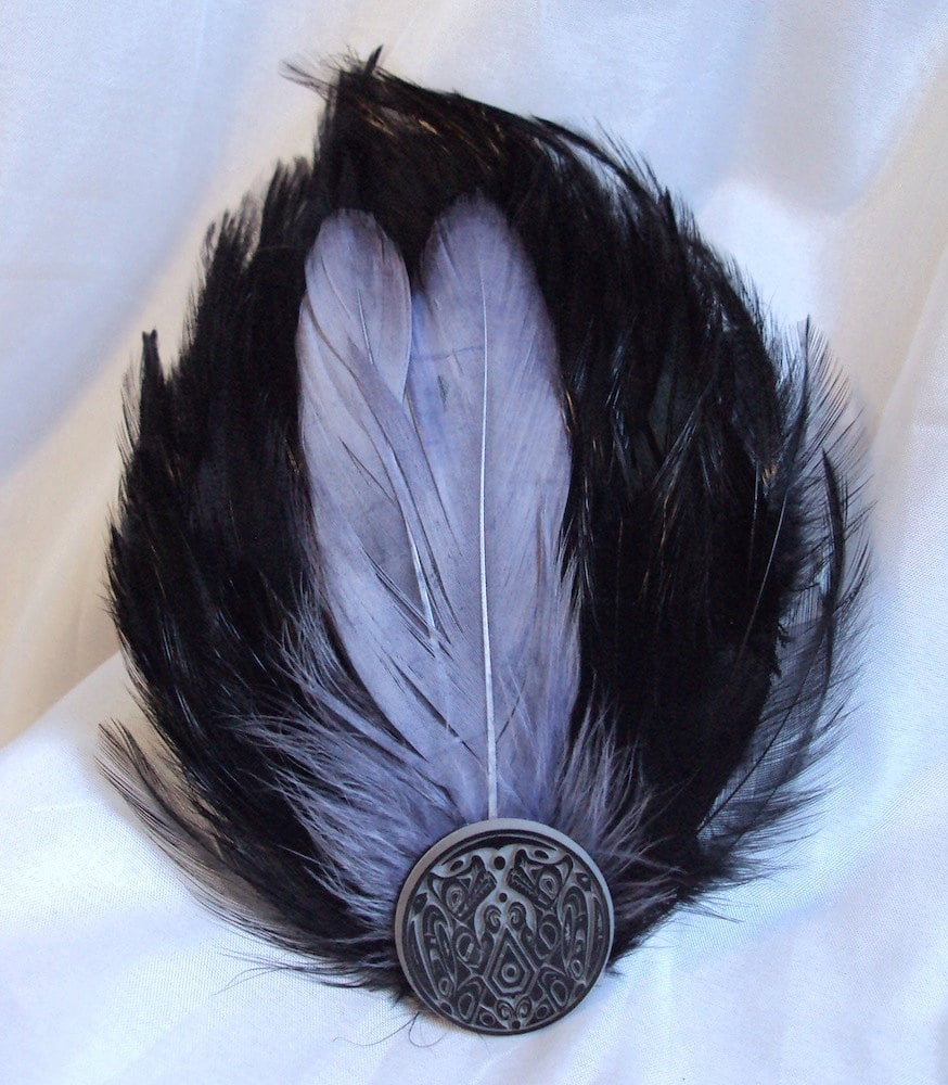 Twilight Wolf Pack Tattoo Feather Fascinator, $16