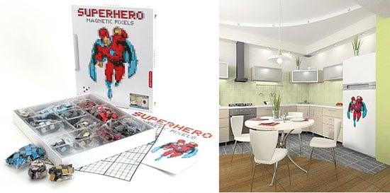 Magnetic Pixel Kit Lets You DIY Superhero Pics