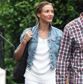 Cameron Diaz Leaving Her London Hotel