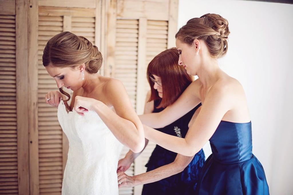 Putting the Wedding Dress On
