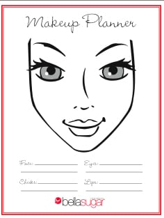 Free makeup planner chart