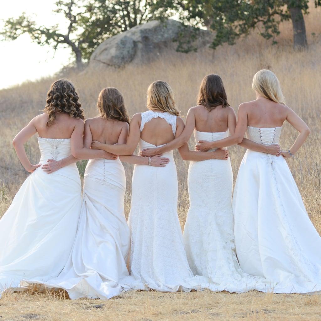 Popsugar Love Sex: Sister Wedding Dress Photo Shoot