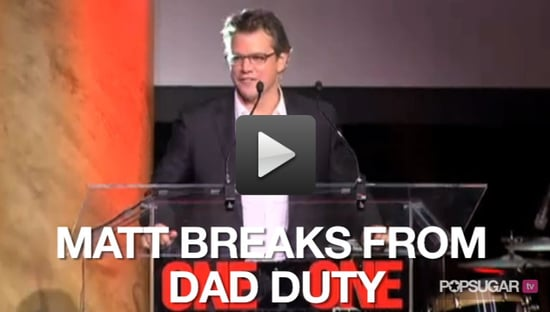 Video of Matt Damon at ONEXONE Fundraiser in New York