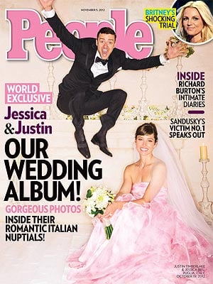 Jessica Biel and Justin Timberlake married in Italy in October 2012.