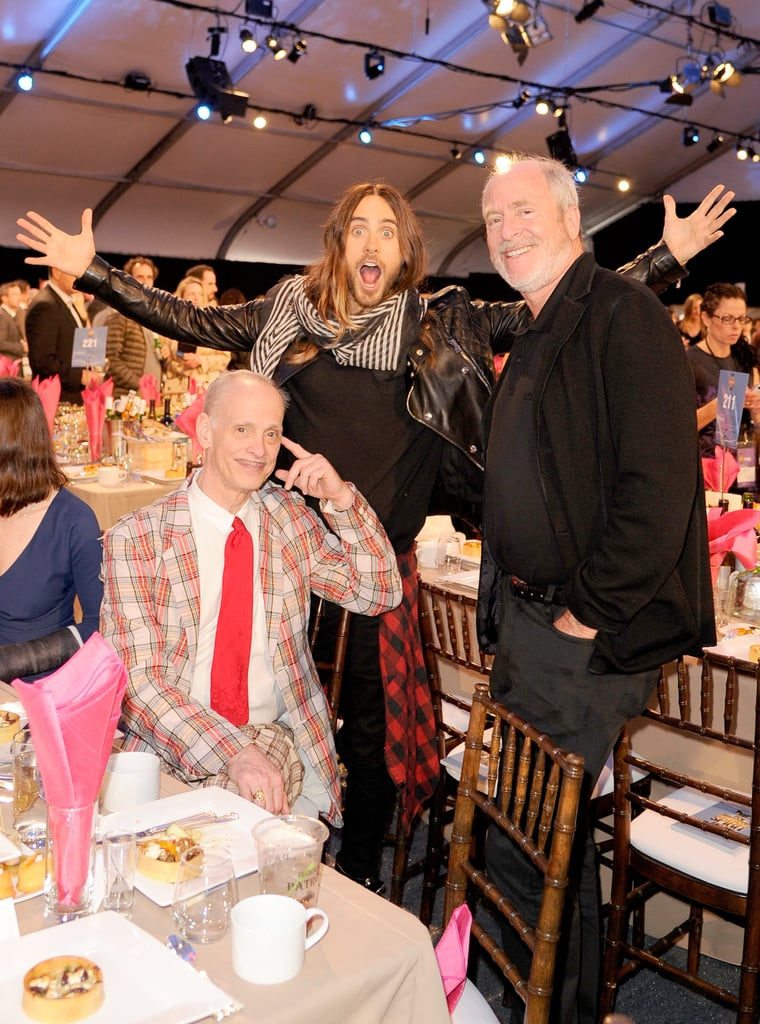 Jared Leto couldn't contain his excitement around John Waters and Greg Gorman at the Independent Spirit Awards.
