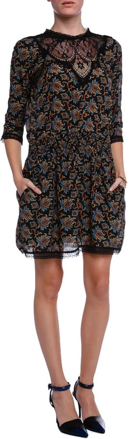 Sea Printed Lace Dress