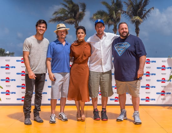 Taylor Lautner, David Spade, Salma Hayek, Adam Sandler, and Kevin James posed for pictures in Cancun.