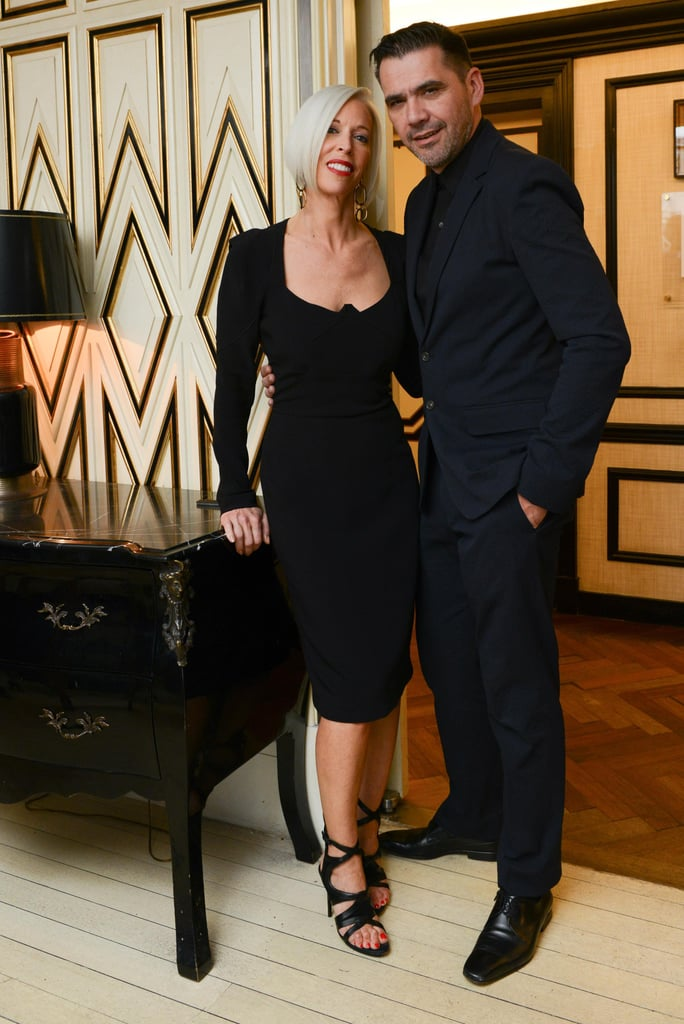 Linda Fargo and Roland Mouret at the Bergdorf Goodman dinner honoring Roland Mouret in New York.  Photo courtesy of Dean Neville/BFAnyc.com