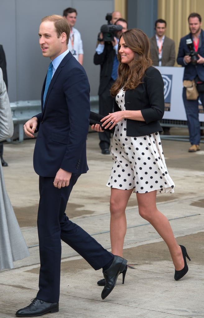 Kate Middleton walked with Prince William.