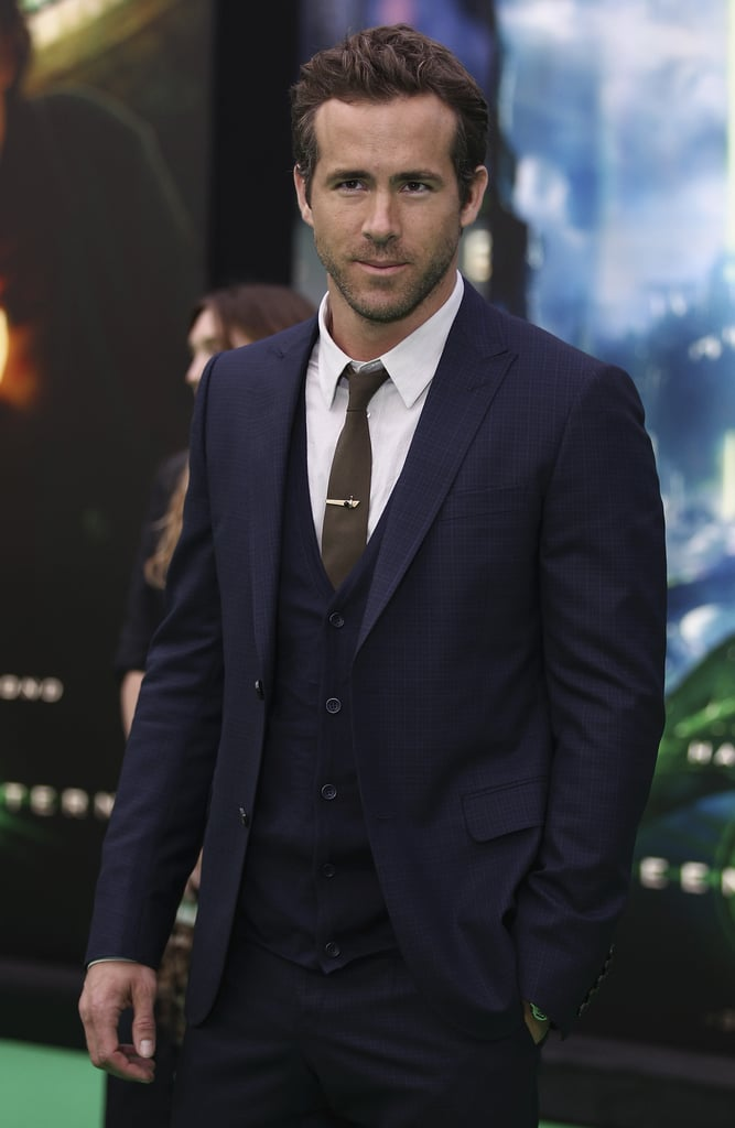 Ryan Reynolds wore a dapper suit on the green carpet.