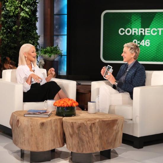 Christina Aguilera Celebrity Impressions on The Ellen Show