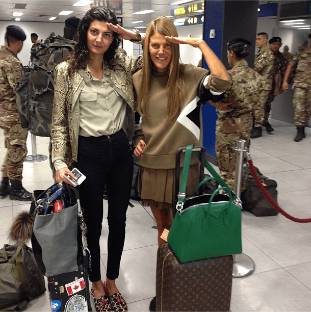 And they're off! Source: Instagram user anna_del_russo