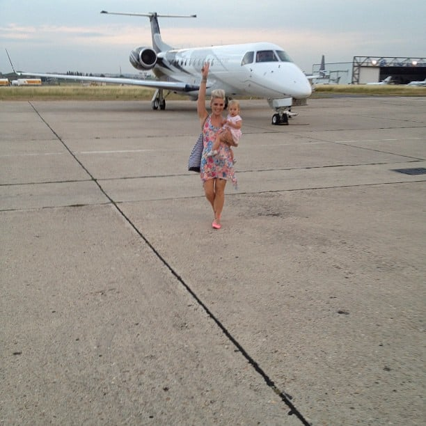 Pink and Willow stepped off their private jet. Source: Instagram user pink