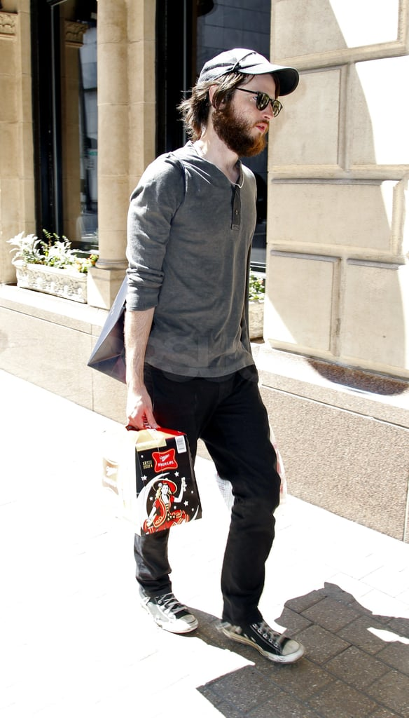 Tom Sturridge grabbed a 12 pack.