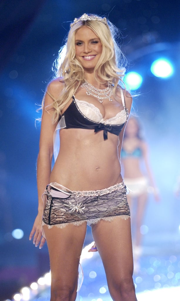 Heidi Klum worked the catwalk in November 2003 at the Victoria's Secret show.