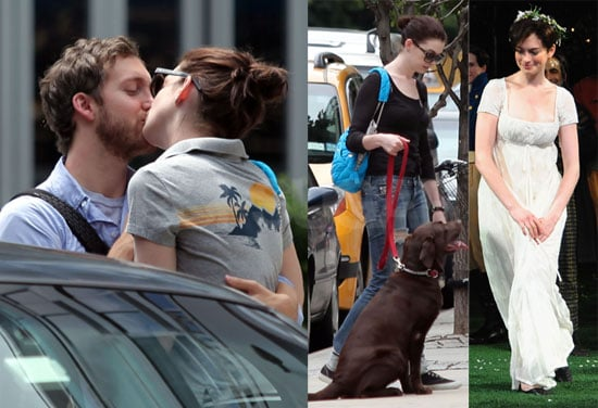 Photos of Anne Hathaway and Boyfriend Adam Shulman Kissing in NYC, Onstage in Twelfth Night