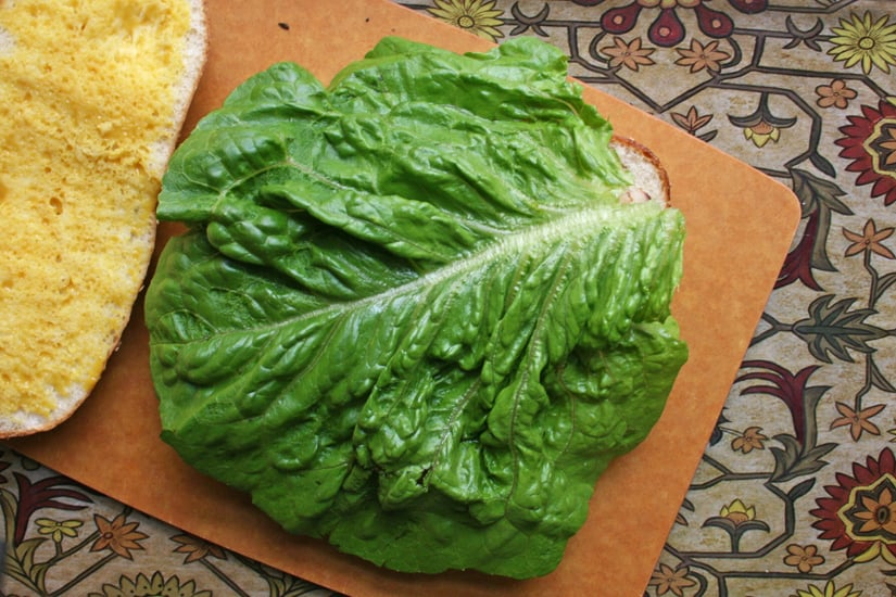 Top With a Large Lettuce Leaf