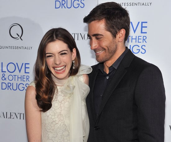 Slide Picture of Anne Hathaway and Jake Gyllenhaal at the NYC Premiere of Love and Other Drugs