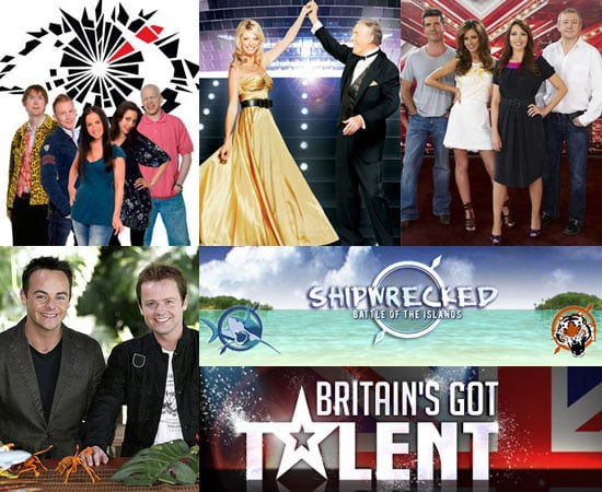 Reality TV Shows Big Brother, Britains Got Talent, Shipwrecked, Strictly Come Dancing, X Factor, I'm A Celebrity, Dancing on Ice