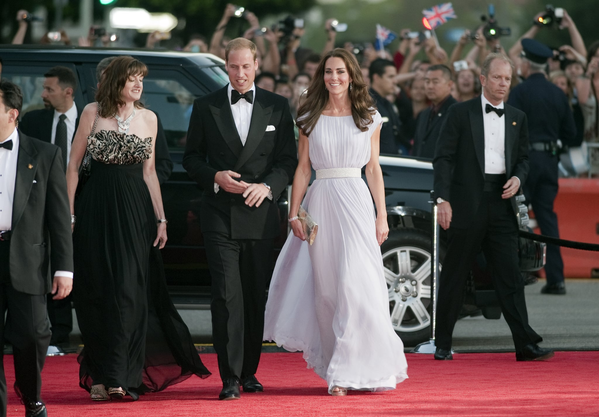 Prince William and Kate Middleton got dressed up to attend a July 2011 BAFTA event during their tour of Los Angeles.