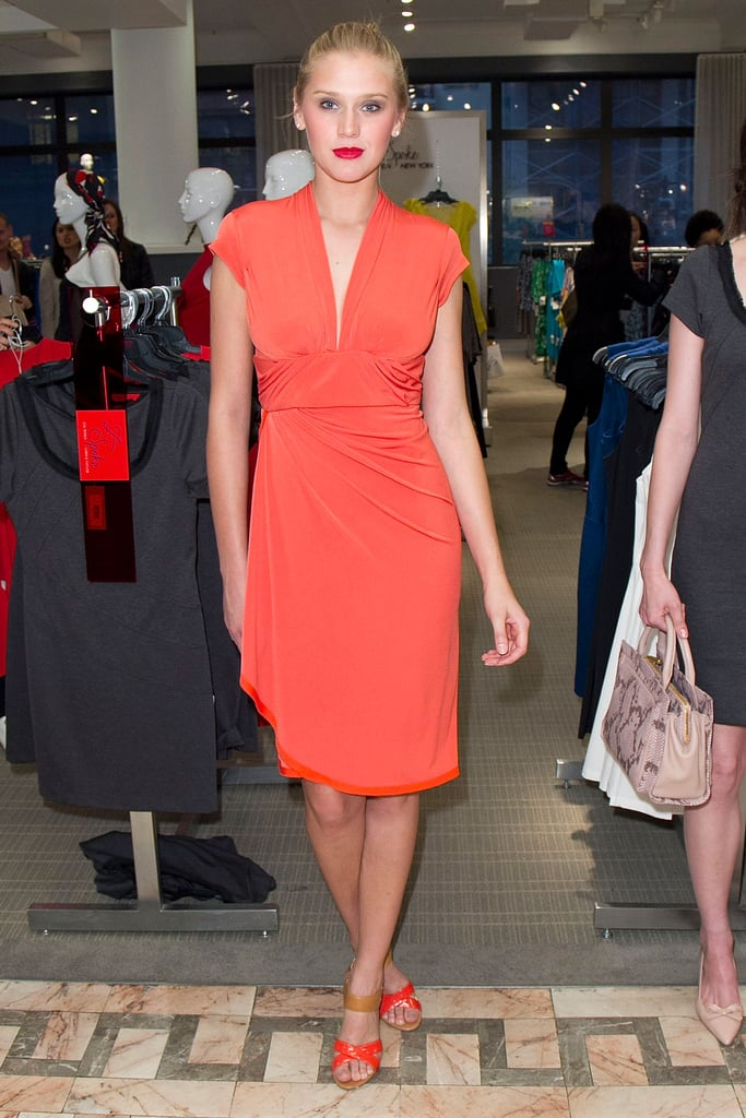 The draping on this Z Spoke dress was made to highlight curves.
