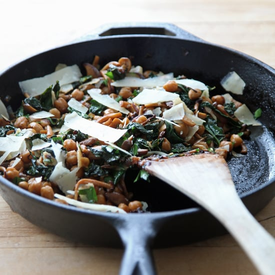 One-Pan Mushrooms, Chickpeas, and Kale